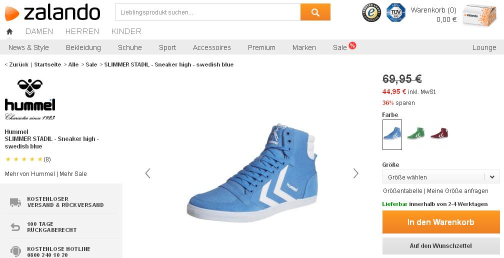 Cooler Hummel Sneaker Im Angebot Mit 36 Rabatt F 252 R Nur 44