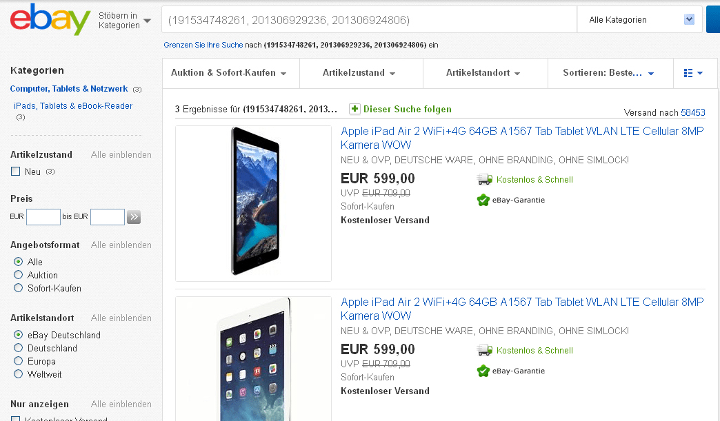 euer deal apple ipad air 2 64gb tablet im angebot f r. Black Bedroom Furniture Sets. Home Design Ideas