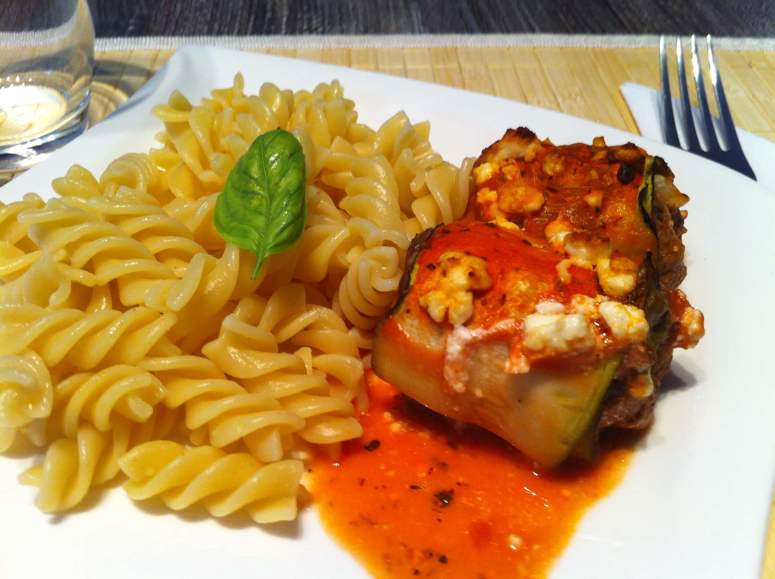 Protein Fitness Cannelloni mit einer leichten Tomatensauce