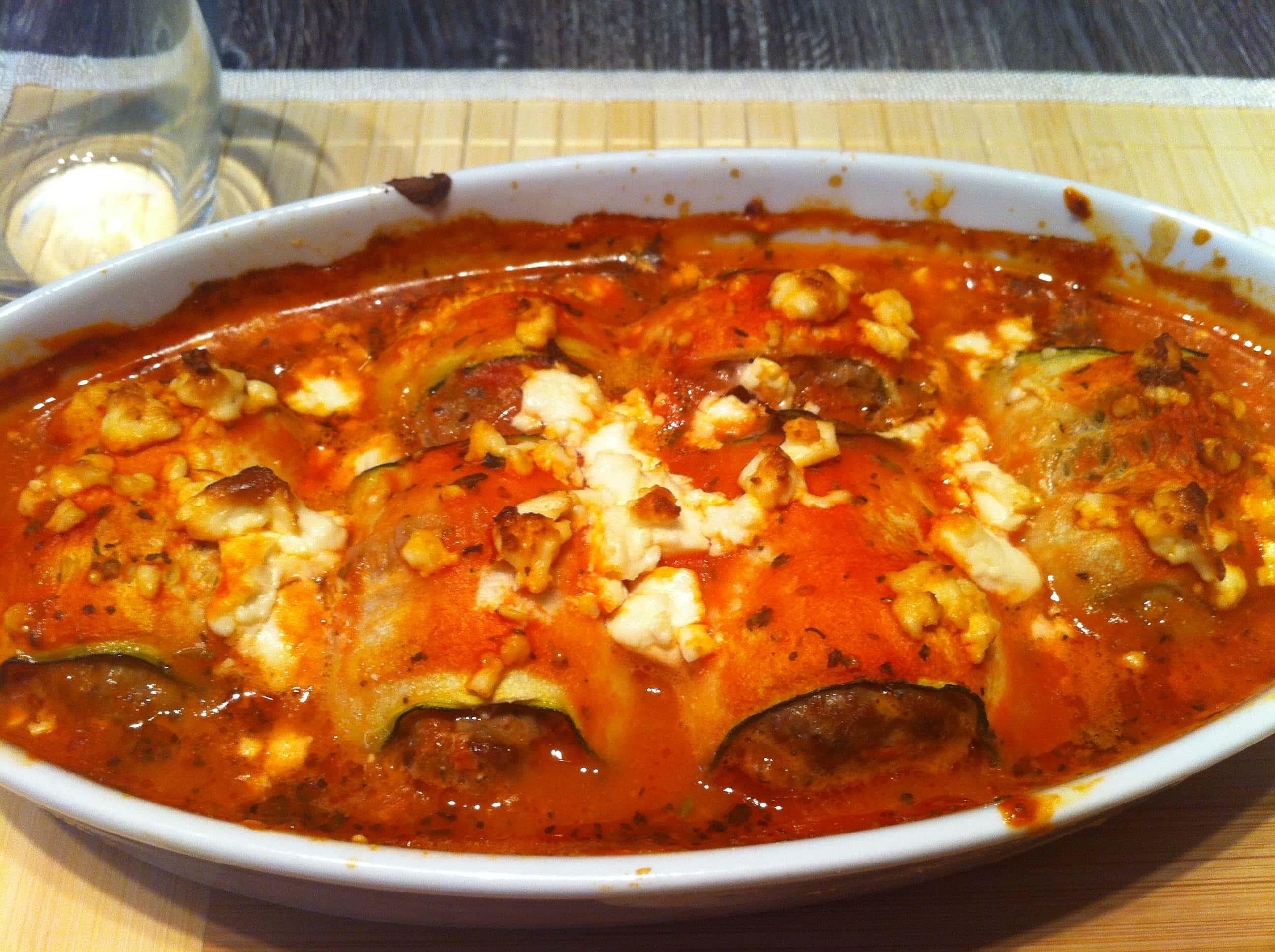Die Low Carb Fitness Cannelloni mit einer leichten Tomatensauce
