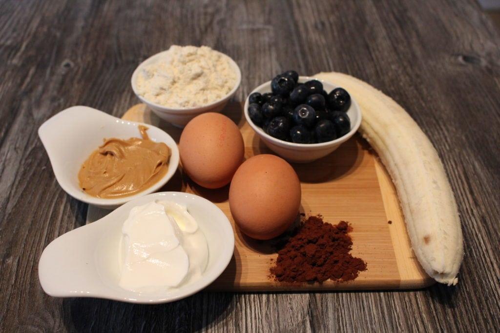 Der Protein Schoko Blaubeermuffin