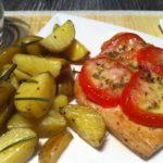 mediterrane Tomatenschnitzel mit Rosmarin Kartoffeln