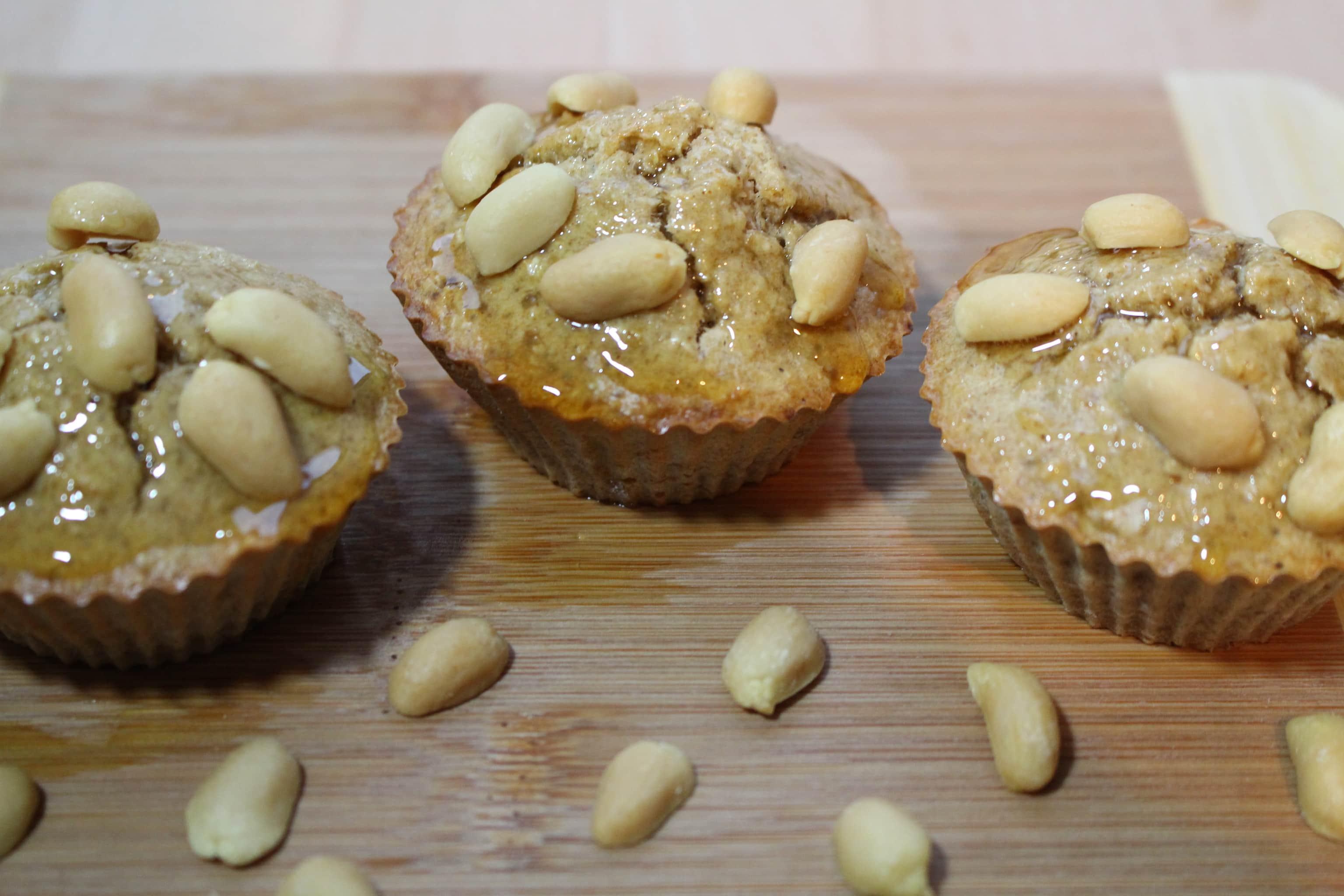 Der High Carb Erdnuss Muffin