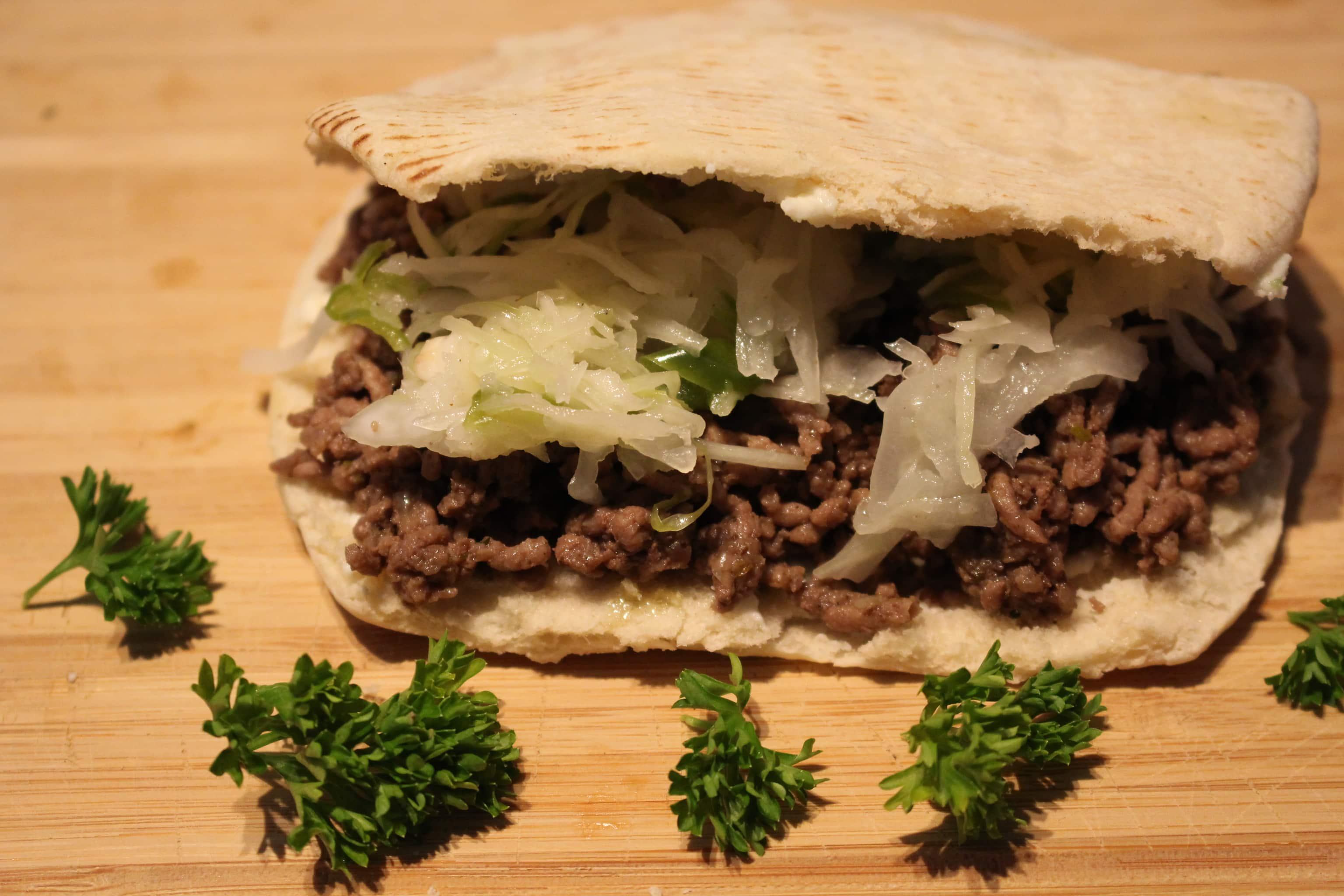 Die High Carb Gyros Hackfleisch Pita