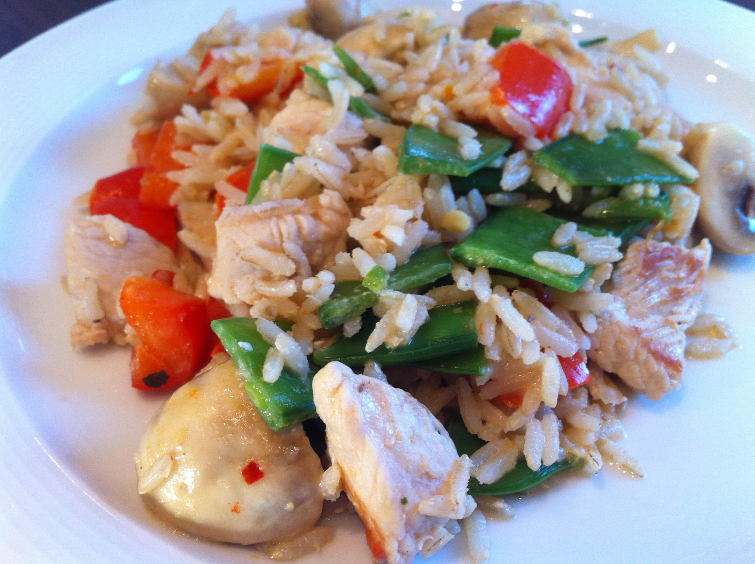 Die asiatische Puten Currypfanne