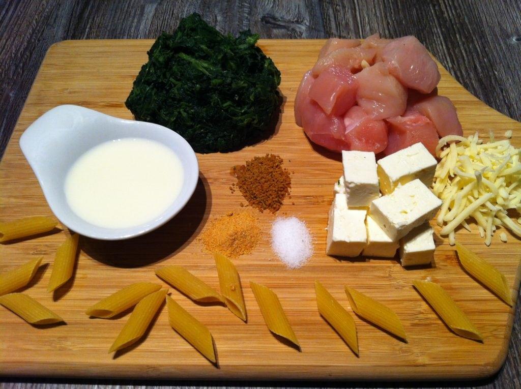 Der High Carb Spinat Nudel Auflauf1