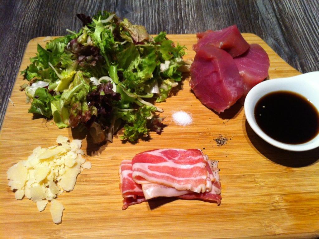 Das low carb Schweinefilet mit dem Caesar Salad1