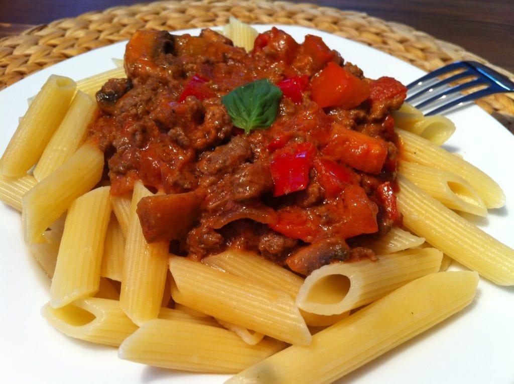 Die low fat Pasta mit der leichten Tomatensauce