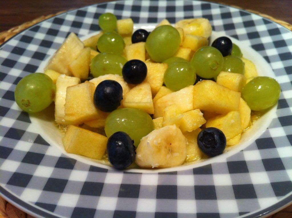 Der leichte low fat Obstsalat