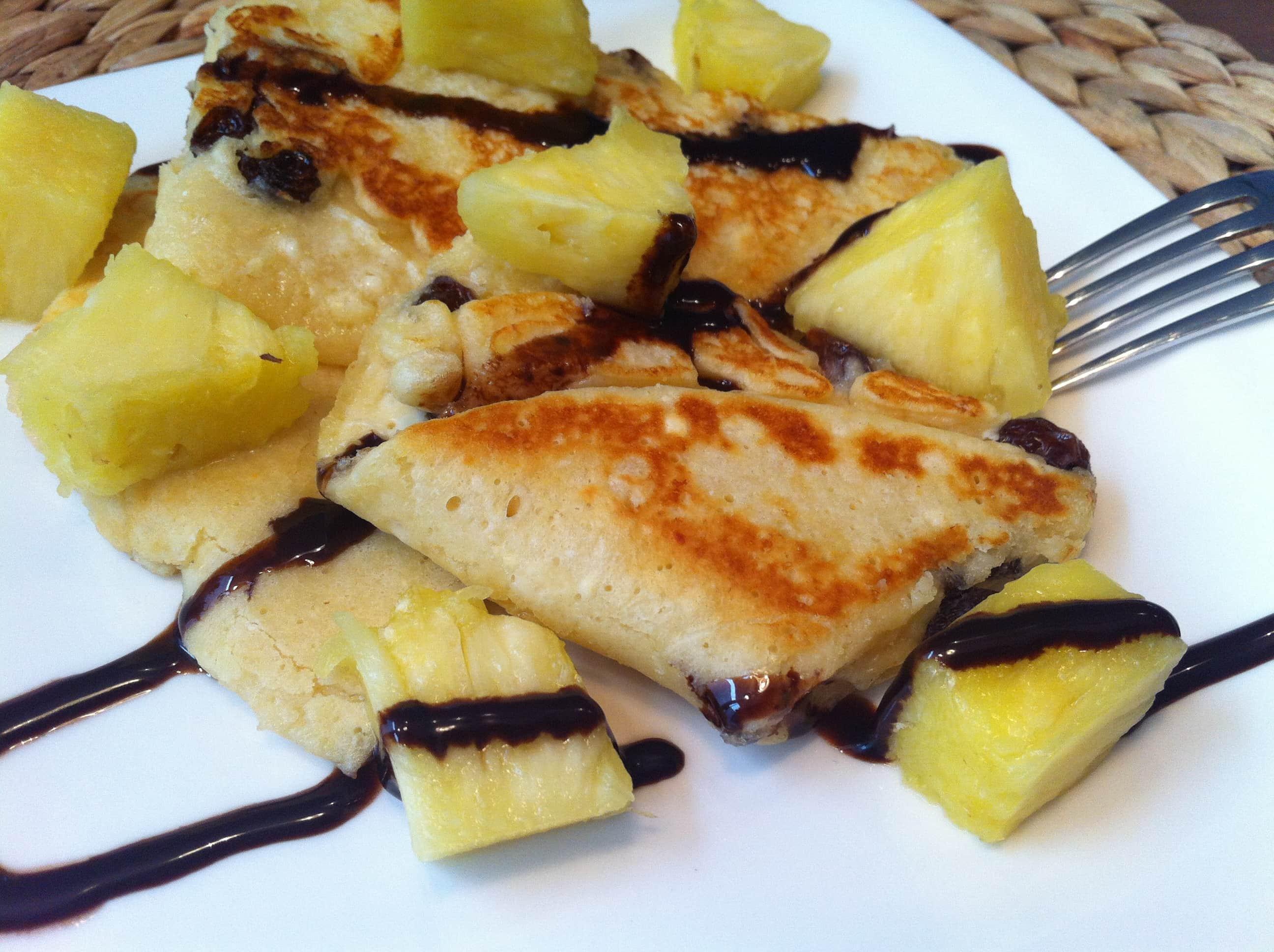Der high-protein-pancake-mit-ananas