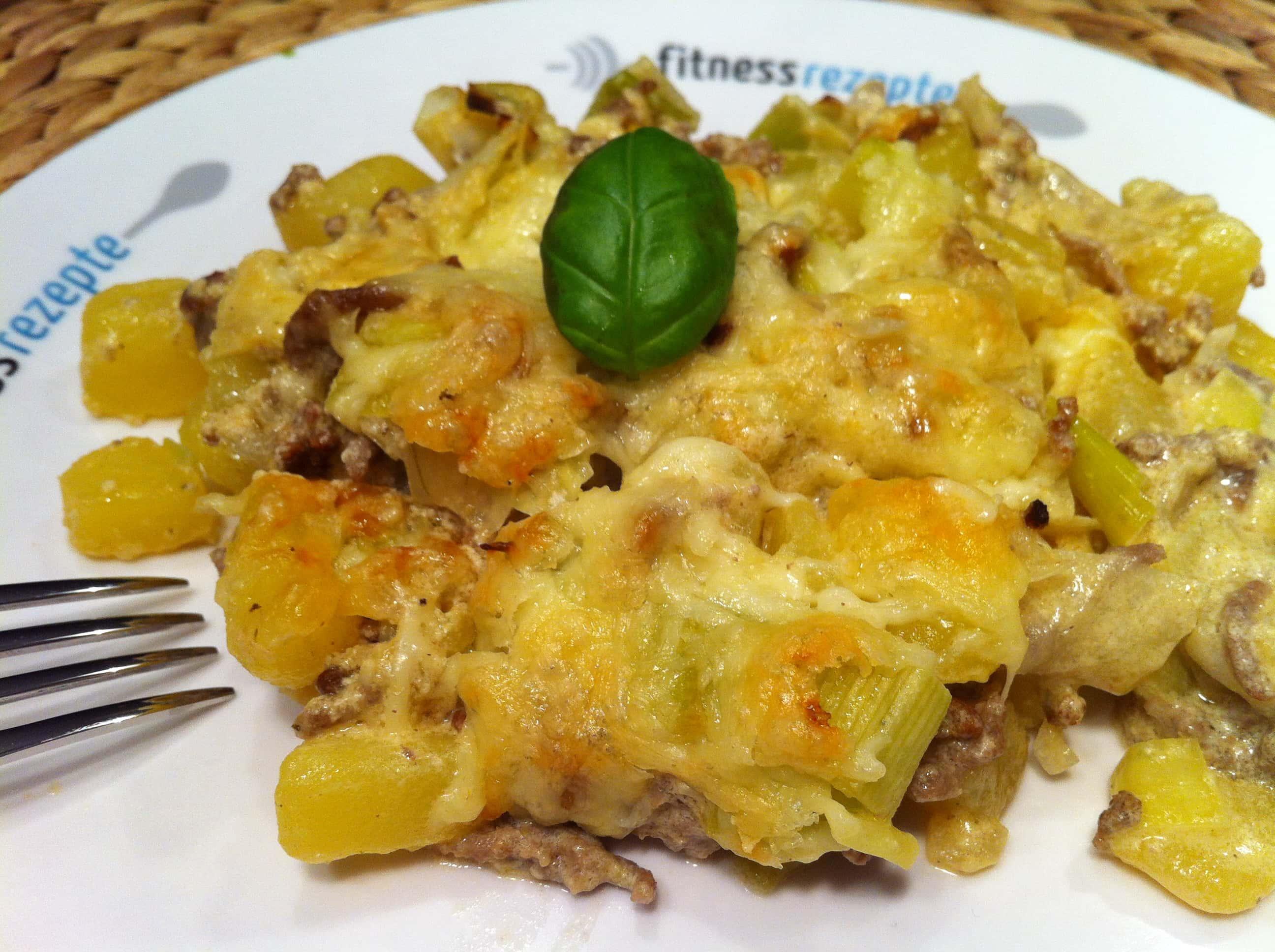 Der gesunde-kartoffel-lauch-auflauf