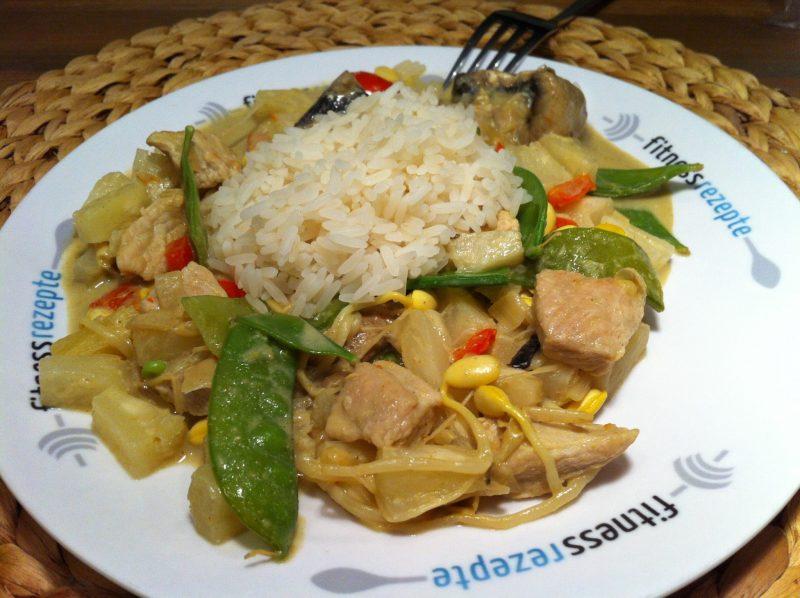 Der asiatische Curryteller