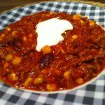 Das gesunde selbst gemachte Chili Con Carne