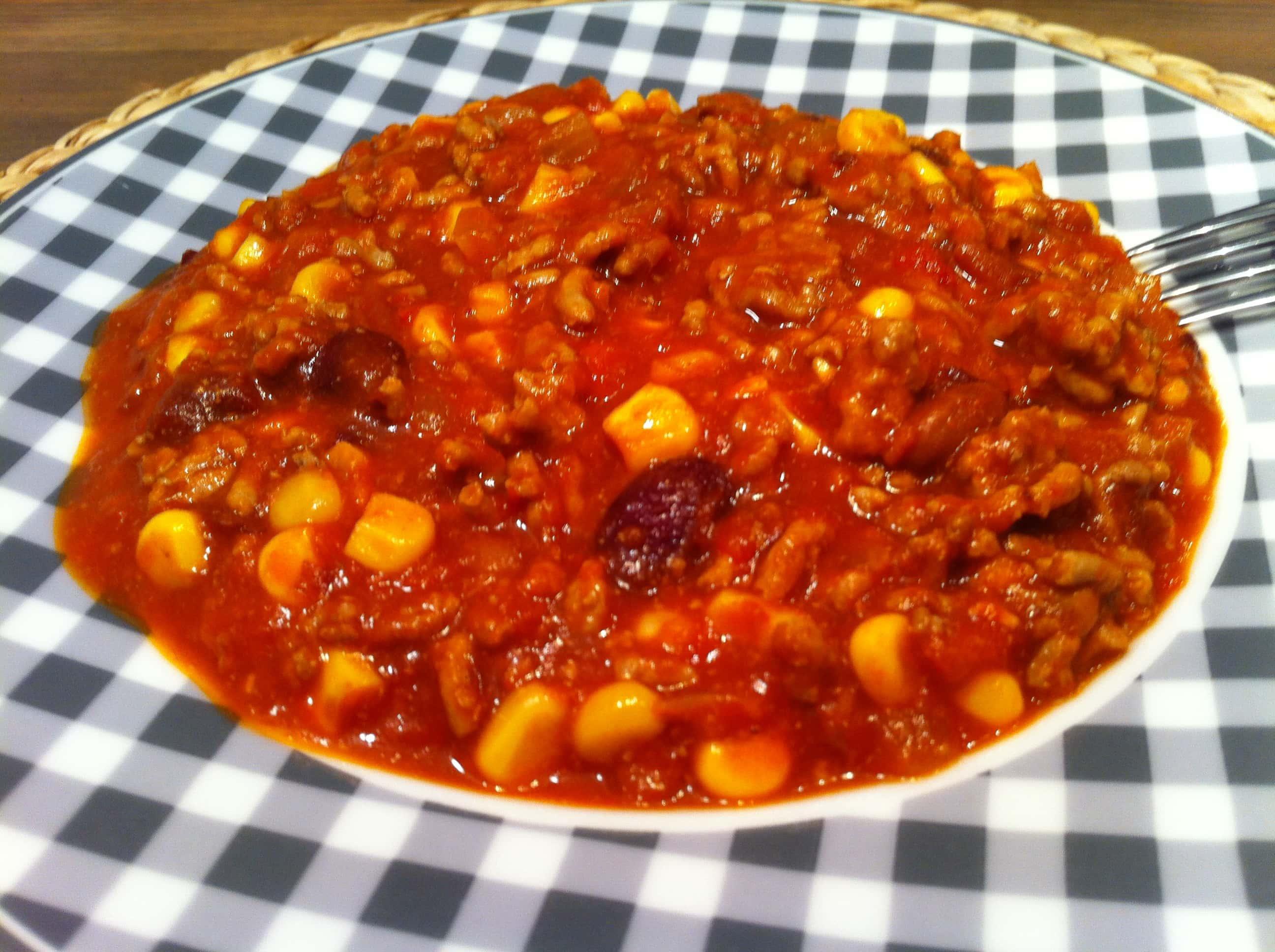 Das schnelle selbst gemachte Chili Con Carne