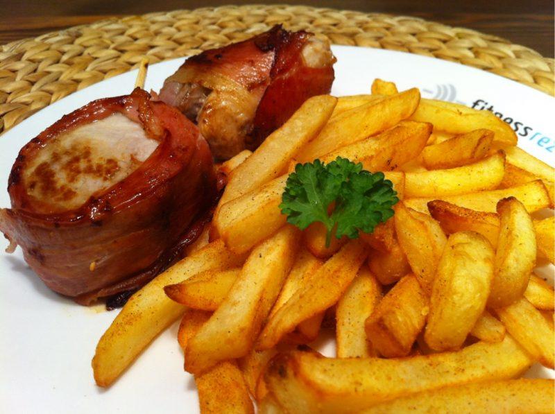 Der Power Workout Teller mit Schweinefilet und Ofenpommes