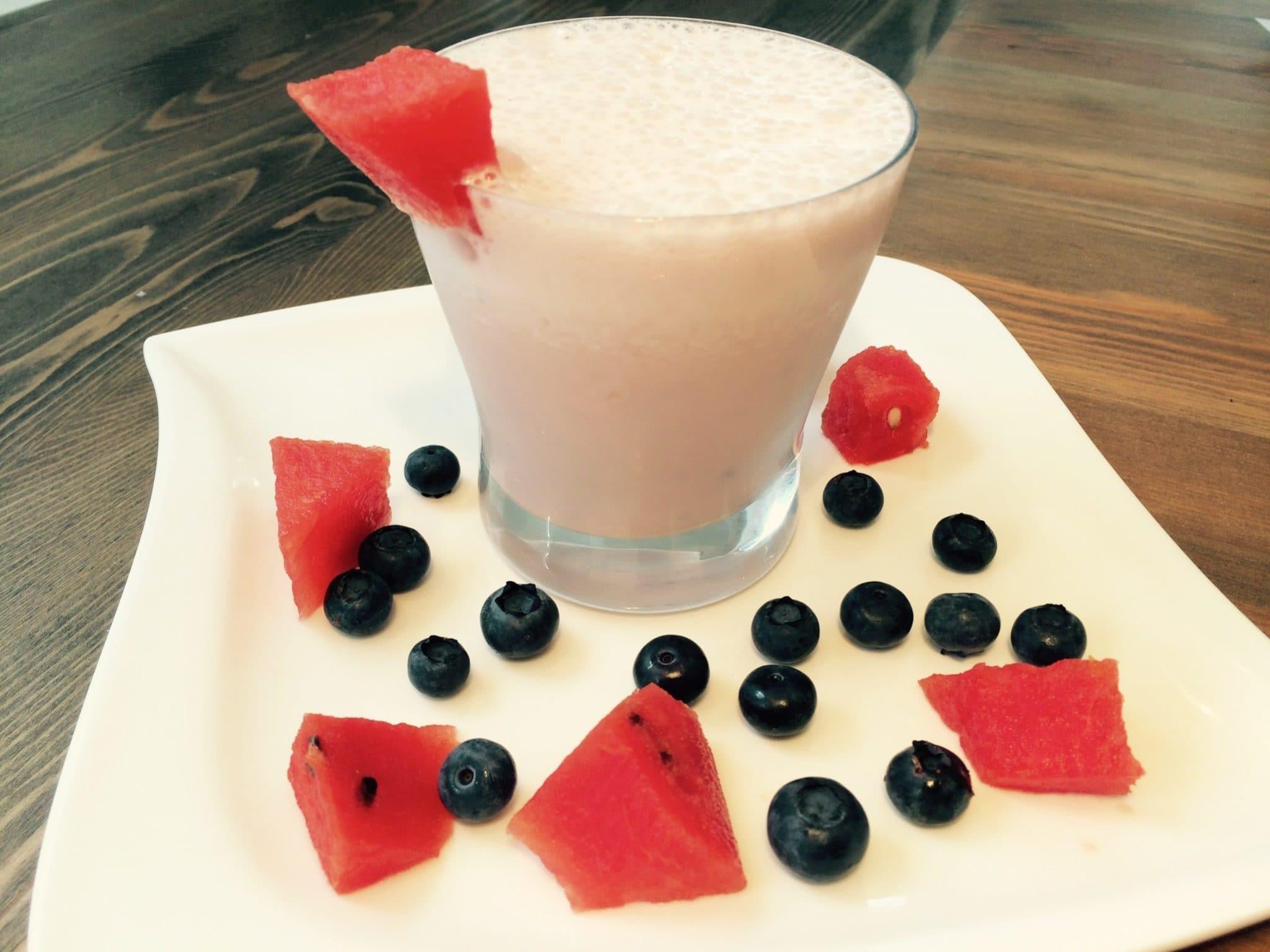 Der Power Protein Smoothie mit Wassermelone