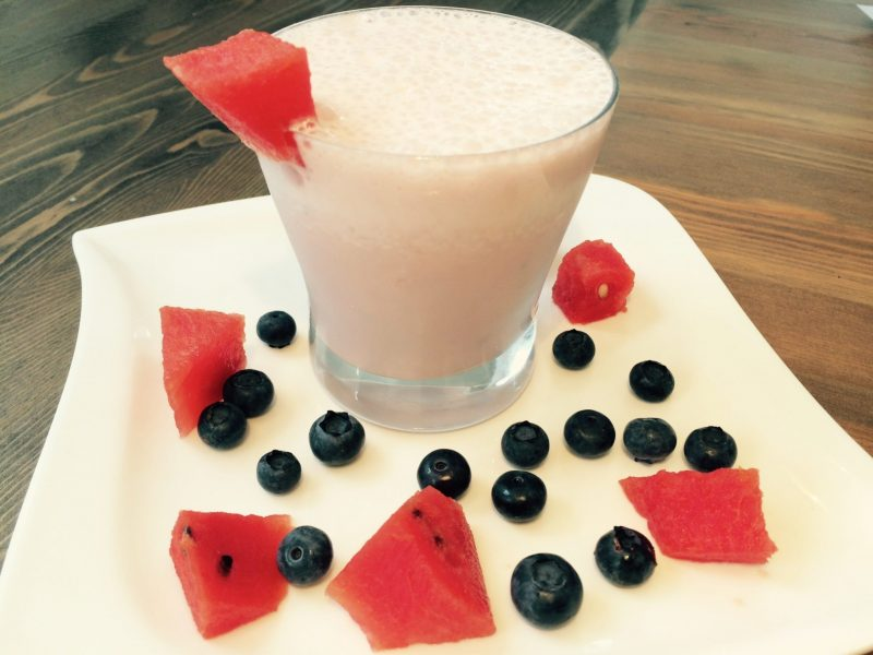 Der low fat Power Smoothie mit Wassermelone