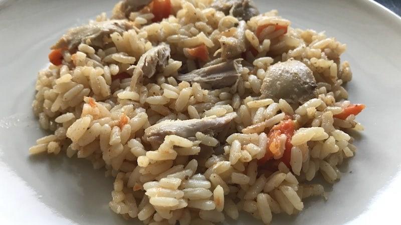 Gebratener Reis Hähnchen Gemüse Zubereitung Rezept