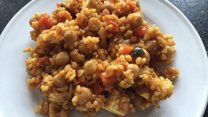 Bulgur-Salat mit Kichererbsen Zubereitung Rezept