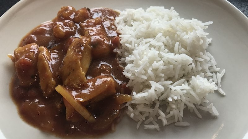 Chicken Tikka Masala mit Reis Rezept Zubereitung