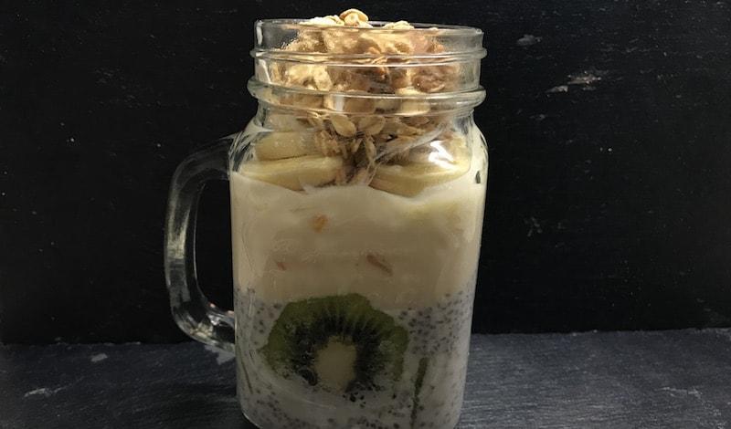 Frühstück-Glas