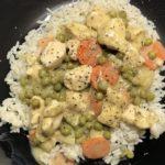 Hähnchen-Gemüse-Reis