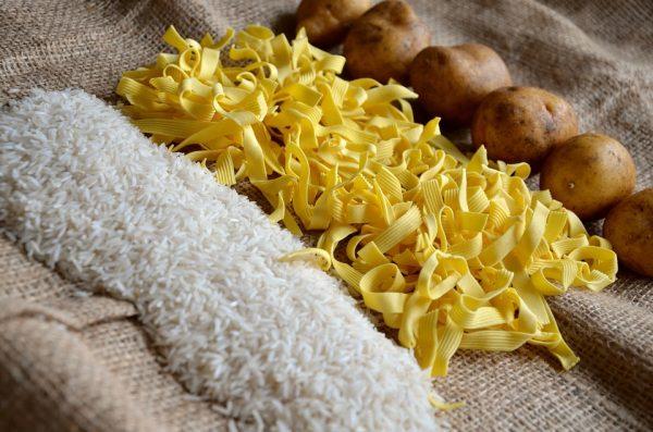 Kartoffeln, Nudeln, Reis