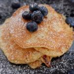 Haferflocken-Pancakes-Heidelbeeren