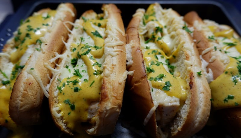 Lachs-Hot-Dogs