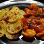 Hähnchenschaschlik-fettarm-Bratkartoffeln