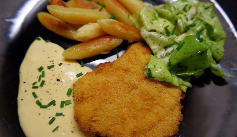 Leichte-Hollandaise-Schnitzel