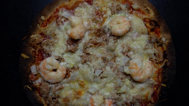 Schnelle Pizza mit viel Eiweiß und wenig Aufwand