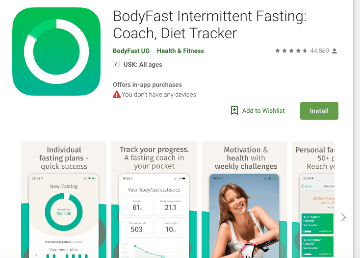 BodyFast Intermittent Fasting