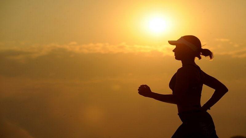 Sport bei Hitze, Sommer, Sport, Joggen