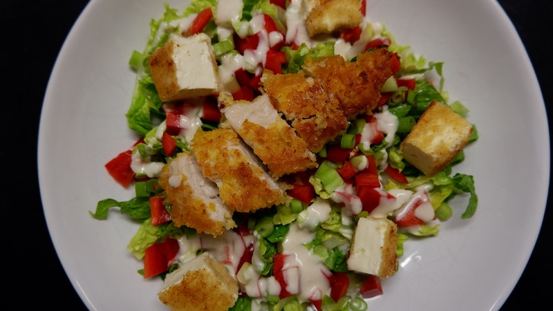 Chicken-Feta-Salat