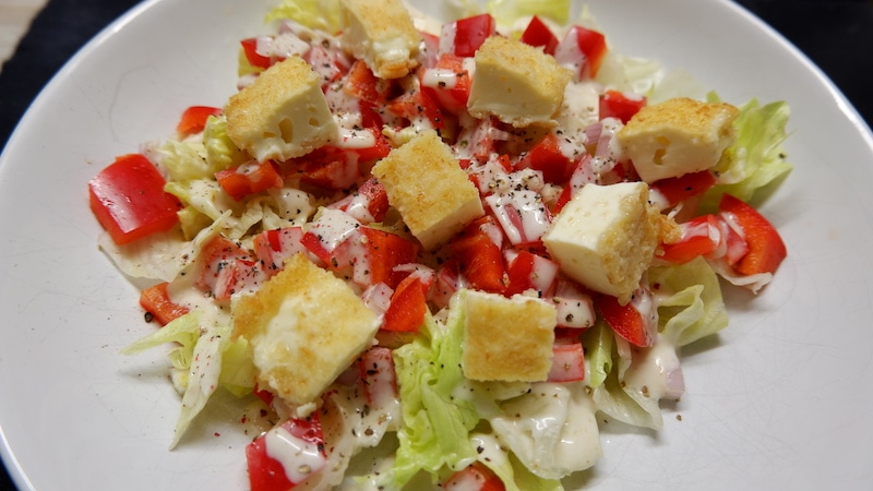 Salat-Fetakäse-vegetarisch