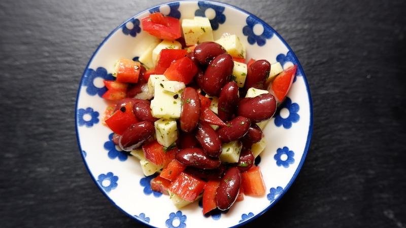 Proteinreicher-Kidneybohnen_salat
