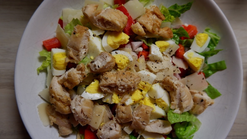 Frühlingssalat-Proteine-Ei