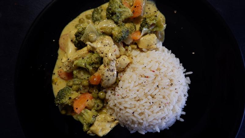 Hähnchencurry-Reis