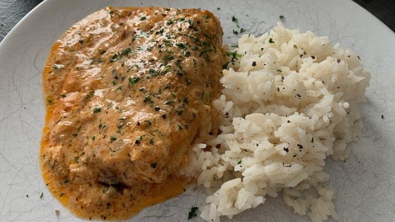 Lachs mit Reis