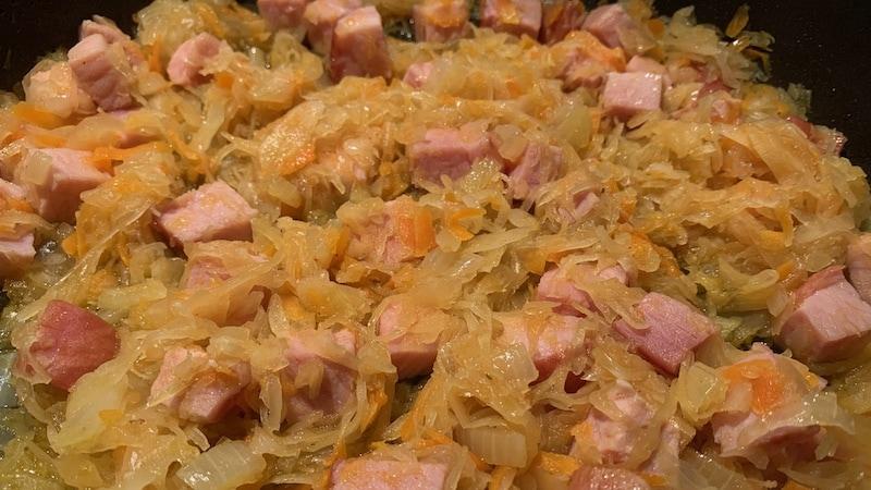 Sauerkraut-Kassler-Pfanne